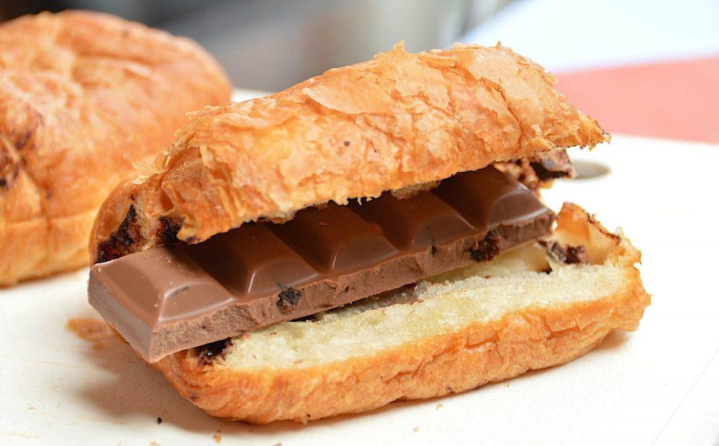 barre chocolatée dans du pain afin de se faire plaisir pour gérer son stress