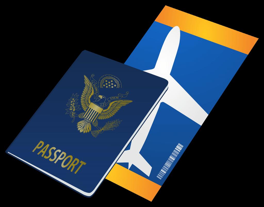 Billet d'avion lors d'un voyage